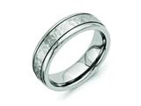 Chisel Titanium 7mm Grooved Edge Hammered And Polished Wedding Band style: TB237