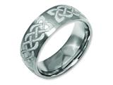 Chisel Titanium 8mm Laser Design Brushed Weeding Band style: TB26F