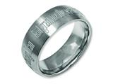 Chisel Titanium 8mm Laser Design Brushed Weeding Band style: TB26G