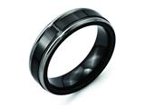 Chisel Titanium Black Ti Two-tone 6.5mm Polished Weeding Band style: TB280