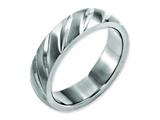 <b>Engravable</b> Chisel Titanium Swirl Design 6mm Satin Wedding Band style: TB321