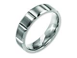 <b>Engravable</b> Chisel Titanium 6mm Grooved Satin And Polished Wedding Band style: TB323