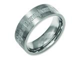 Chisel Titanium Flat 8mm Laser Design Brushed Weeding Band style: TB33G