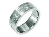 Chisel Titanium Flat 8mm Laser Design Brushed Weeding Band style: TB33T