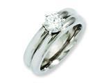 Chisel Titanium CZ Ring style: TB373