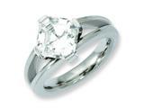 Chisel Titanium CZ Ring style: TB375
