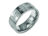 Chisel Titanium Flat 8mm Laser Design Polished Weeding Band style: TB3G
