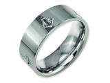 Chisel Titanium Flat 8mm Laser Design Polished Weeding Band style: TB3M