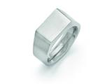 <b>Engravable</b> Chisel Titanium Polished And Brushed Signet Ring style: TB425