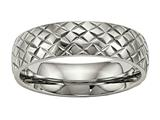 Chisel Titanium Polished Textured Ring style: TB458