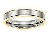 Chisel Titanium Polished Yellow Ip Grooved Comfort Back Ring style: TB471