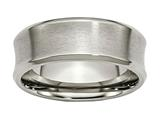 Chisel Titanium Beveled Edge Concave 8mm Brushed and Polished Weeding Band style: TB47