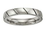 Chisel Titanium Polished Grooved Ring style: TB482