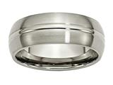 Chisel Titanium Grooved 8mm Brushed And Polished Weeding Band style: TB49