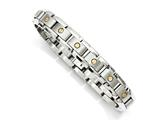 Chisel Titanium With 14k Inlay Accent Bracelet style: TBB151825