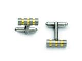 Chisel Titanium Gold Accent Cuff Links style: TBC107