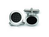 Chisel Titanium Black Carbon Fiber Cuff Links style: TBC112