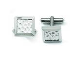 Chisel Titanium Hammered Cuff Links style: TBC115
