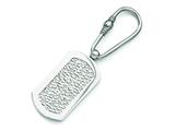 <b>Engravable</b> Chisel Titanium  Pebble Textured Key Ring style: TBK100