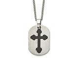 Chisel Titanium Black Plated Moveable Cross Necklace - 22 inches style: TBN114