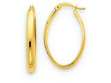 Finejewelers 14k Yellow Gold Polished 3.5mm Oval Hoop Earrings style: TC188