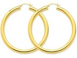 14k Polished 5mm Tube Hoop Earrings style: TC194