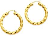 14k Polished 5.0mm Twisted Hoop Earrings style: TC392