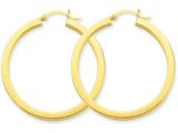 Finejewelers 14k Yellow Gold 3mm Polished Square Hoop Earrings style: TE540