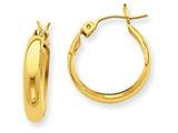Finejewelers 14k Yellow Gold Polished 3.5mm Hoop Earrings style: TF150