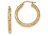 14k Textured Hoop Earrings style: TF554