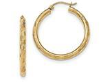 14k Textured Hoop Earrings style: TF556