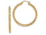 14k Textured Hoop Earrings style: TF558