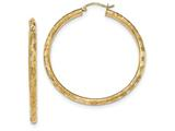 Finejewelers 14k Yellow Gold Textured Hoop Earrings style: TF559