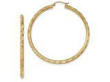 Finejewelers 14k Yellow Gold Textured Hoop Earrings style: TF561