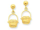 Finejewelers 14k Yellow Gold Textured Hoop Earrings style: TF562