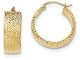 14k Bright Cut Hoop Earrings style: TF579