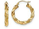 14k Light Twisted Hoop Earrings style: TF591