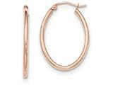 Finejewelers 14k Rose Gold Oval Hoop Earrings style: TF594