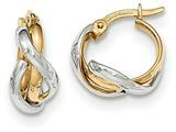 Finejewelers 14 kt Two Tone Gold Polished Fancy Hoop Earrings style: TF661