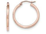 14k Rose Gold Light Weight Square Tube Hoop Earrings style: TF736