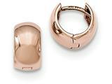 14k Rose Gold Hinged Hoop Earrings style: TF760