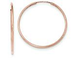 14k Rose Gold Polished Endless Tube Hoop Earrings style: TF787