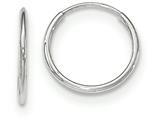 14k White Gold Polished Endless Tube Hoop Earrings style: TF791