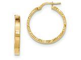 14k Bright Cut Edge Polished Hoop Earrings style: TF813