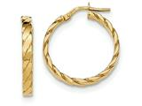 14k Patterned Hoop Earrings style: TF866