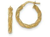 14k Twisted Textured Hoop Earrings style: TH693
