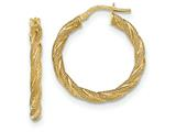 Finejewelers 14k Yellow Gold Twisted Textured Hoop Earrings style: TH694