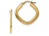 Finejewelers 14k Yellow Gold Tapered Square Hoop Earrings style: TH775