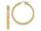 14k Textured Scalloped Edge Hoop Earrings style: TH783