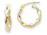 Finejewelers 14k Yellow Gold Polished 2.75mm Fancy Twisted Hoop Earrings style: TM232